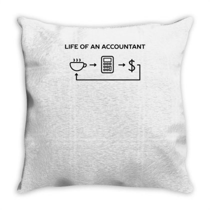 Accountant Work Life Funny Humor Throw Pillow Designed By Anis4