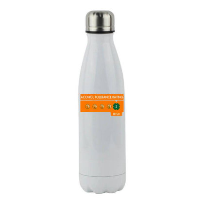 Alcohol Tolerance Level Irish! Stainless Steel Water Bottle Designed By Anis4