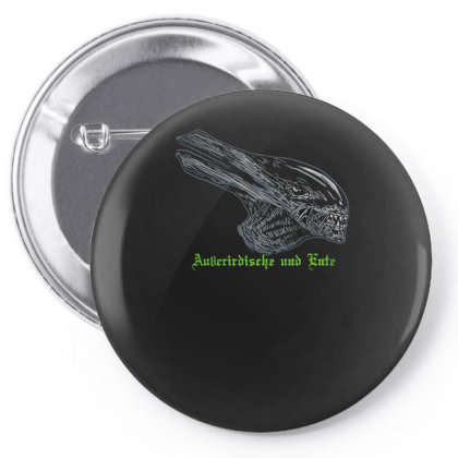 Alien And Duck Pin-back Button Designed By Anis4