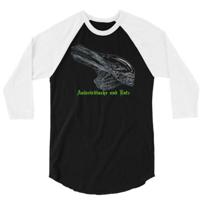 Alien And Duck 3/4 Sleeve Shirt Designed By Anis4