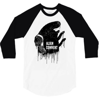 Alien Convent 3/4 Sleeve Shirt Designed By Anis4