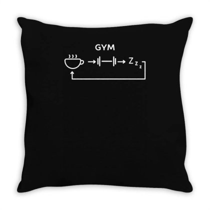 All I Do Is Gym Funny Design Throw Pillow Designed By Anis4