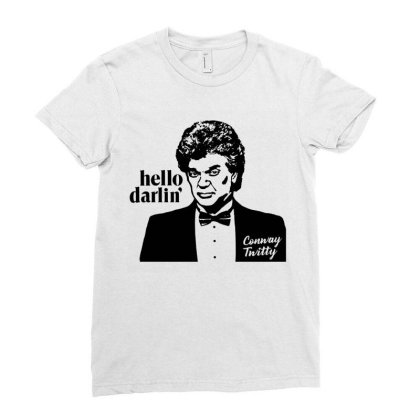 Hello Darlin Vintage Quote Ladies Fitted T-shirt Designed By Moko