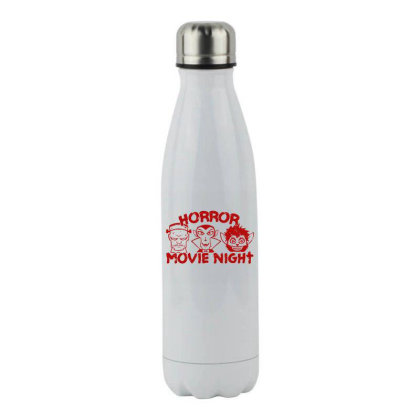Horror Movie Night Stainless Steel Water Bottle Designed By Moko