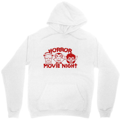 Horror Movie Night Unisex Hoodie Designed By Moko