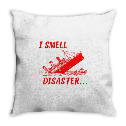 I Smell Disaster Throw Pillow Designed By Moko