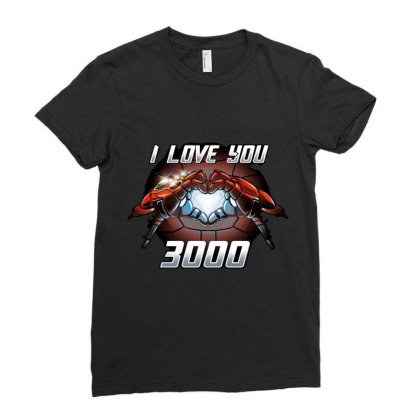I Love You 3000 Stark Ladies Fitted T-shirt Designed By Moko