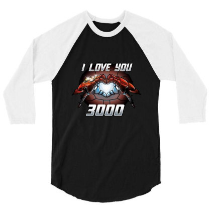 I Love You 3000 Stark 3/4 Sleeve Shirt Designed By Moko