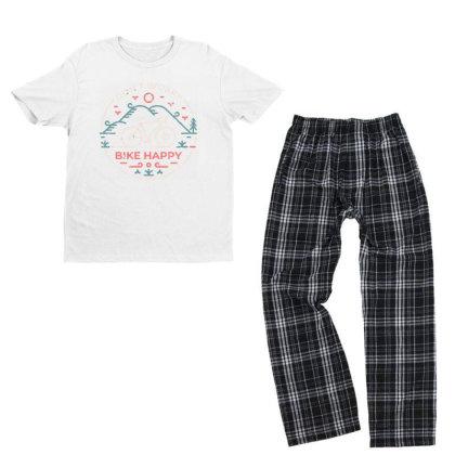 Don't Worry Bike Happy Youth T-shirt Pajama Set Designed By Designisfun
