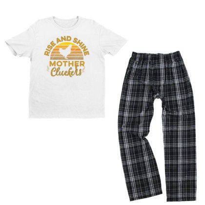 Rise And Shine Mother Cluckers Youth T-shirt Pajama Set Designed By Cogentprint