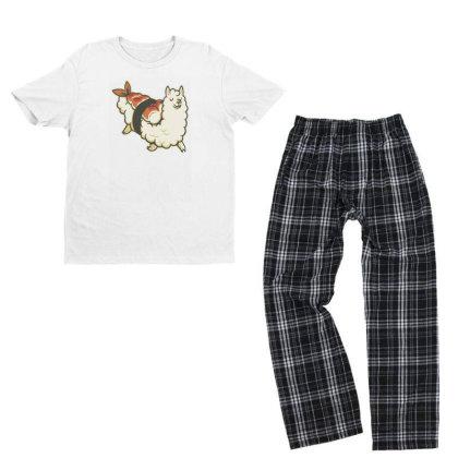 Alpaca Sushi Niguiri I Youth T-shirt Pajama Set Designed By Anis4