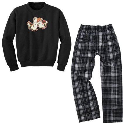 Alpaca Sushi Niguiri Youth Sweatshirt Pajama Set Designed By Anis4