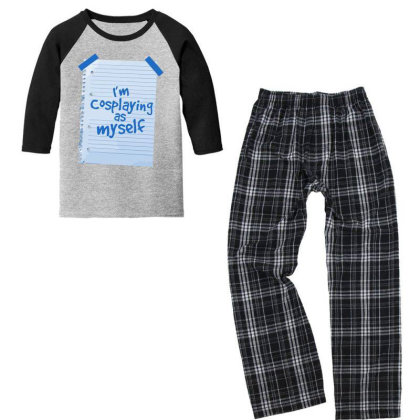 Alternative Cosplay Youth 3/4 Sleeve Pajama Set Designed By Anis4