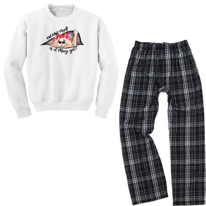 May Peeking Out Baby Girl For Light Youth Sweatshirt Pajama Set Designed By Sengul