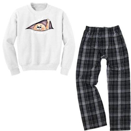 June Peeking Out Baby Boy For Dark Youth Sweatshirt Pajama Set Designed By Sengul