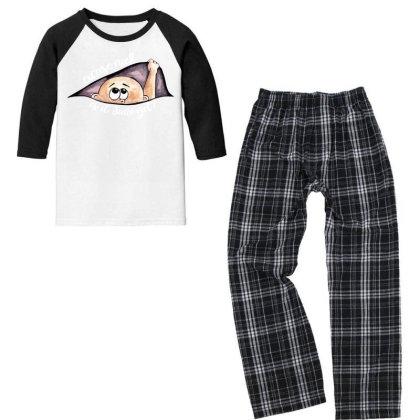 June Peeking Out Baby Boy For Dark Youth 3/4 Sleeve Pajama Set Designed By Sengul