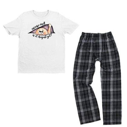August Peeking Out Baby Boy For Light Youth T-shirt Pajama Set Designed By Sengul
