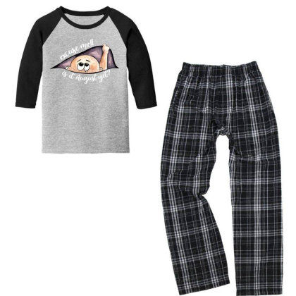 August Peeking Out Baby Boy For Dark Youth 3/4 Sleeve Pajama Set Designed By Sengul