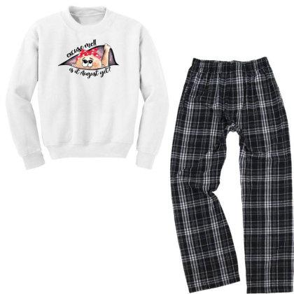 August Peeking Out Baby Girl For Light Youth Sweatshirt Pajama Set Designed By Sengul