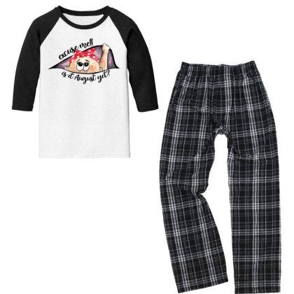 August Peeking Out Baby Girl For Light Youth 3/4 Sleeve Pajama Set Designed By Sengul