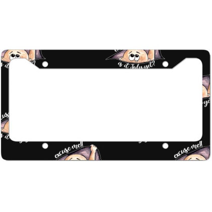July Peeking Out Baby Boy For Dark License Plate Frame Designed By Sengul