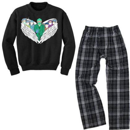 Heroes Youth Sweatshirt Pajama Set Designed By Mysticalbrain