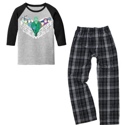 Heroes Youth 3/4 Sleeve Pajama Set Designed By Mysticalbrain