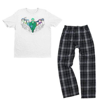 Heroes Youth T-shirt Pajama Set Designed By Mysticalbrain
