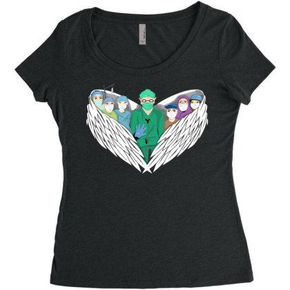 Heroes Women's Triblend Scoop T-shirt Designed By Mysticalbrain