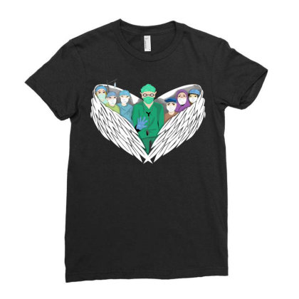 Heroes Ladies Fitted T-shirt Designed By Mysticalbrain