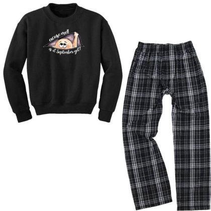 September Peeking Out Baby Boy For Dark Youth Sweatshirt Pajama Set Designed By Sengul