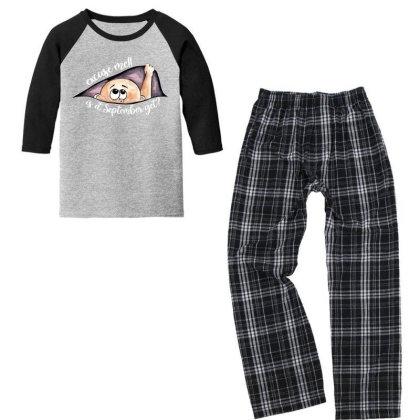 September Peeking Out Baby Boy For Dark Youth 3/4 Sleeve Pajama Set Designed By Sengul