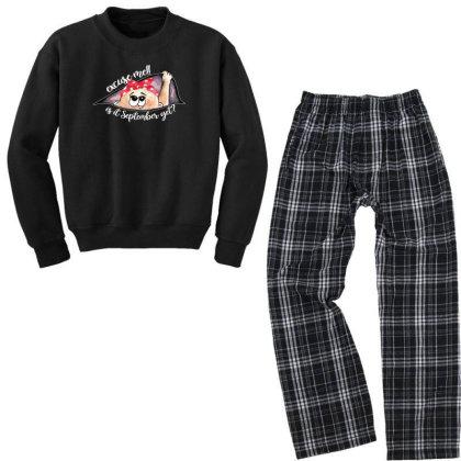 September Peeking Out Baby Girl For Dark Youth Sweatshirt Pajama Set Designed By Sengul