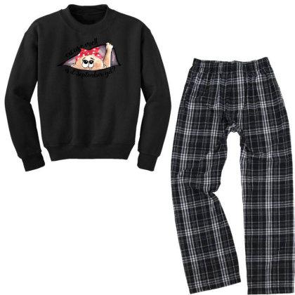 September Peeking Out Baby Girl For Light Youth Sweatshirt Pajama Set Designed By Sengul