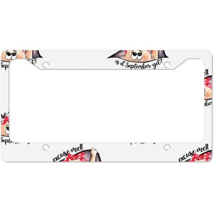 September Peeking Out Baby Girl For Light License Plate Frame Designed By Sengul