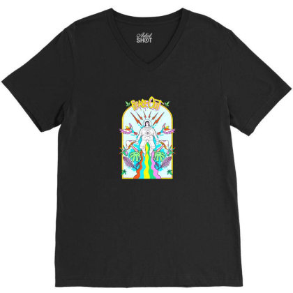 Peace Out V-neck Tee Designed By Cuser3237