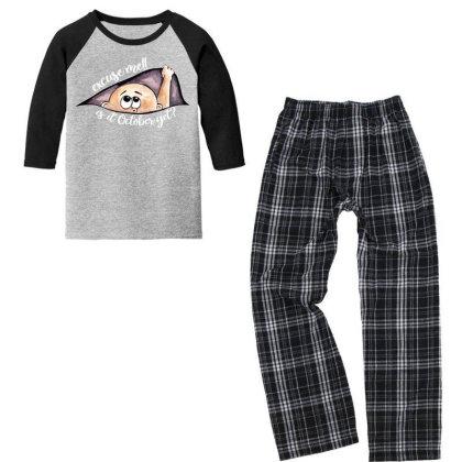 October Peeking Out Baby Boy For Dark Youth 3/4 Sleeve Pajama Set Designed By Sengul