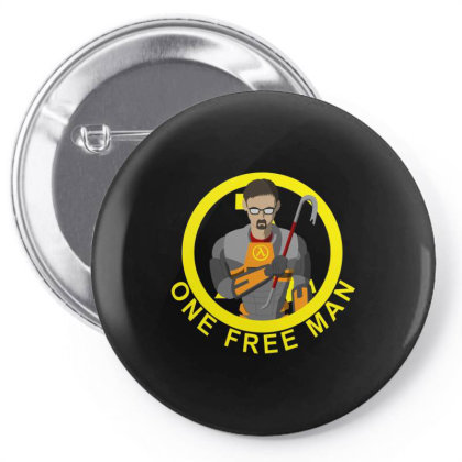 One Free Man Pin-back Button Designed By Cuser3237