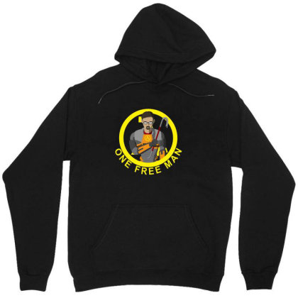 One Free Man Unisex Hoodie Designed By Cuser3237