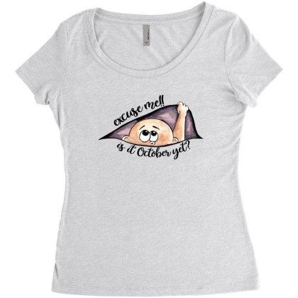 October Peeking Out Baby Boy For Light Women's Triblend Scoop T-shirt Designed By Sengul