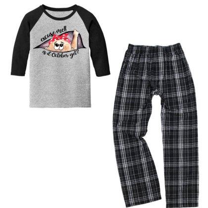 October Peeking Out Baby Girl For Light Youth 3/4 Sleeve Pajama Set Designed By Sengul