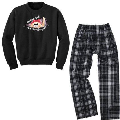 November Peeking Out Baby Girl For Dark Youth Sweatshirt Pajama Set Designed By Sengul