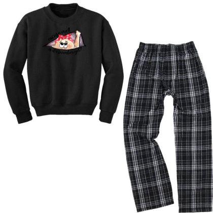 November Peeking Out Baby Girl For Light Youth Sweatshirt Pajama Set Designed By Sengul