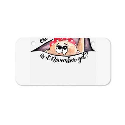 November Peeking Out Baby Girl For Light Bicycle License Plate Designed By Sengul