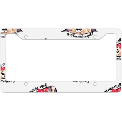 December Peeking Out Baby Girl For Light License Plate Frame Designed By Sengul