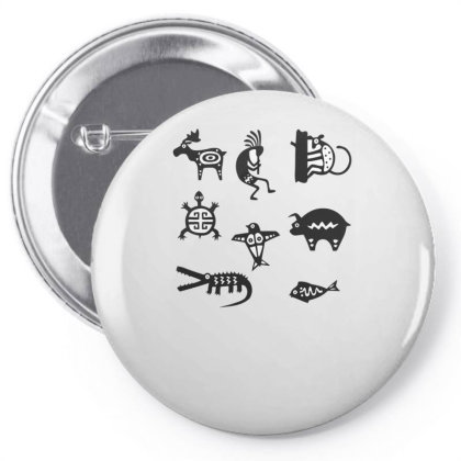 Animals Mayan Pin-back Button Designed By Anis4