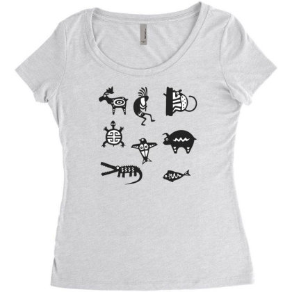 Animals Mayan Women's Triblend Scoop T-shirt Designed By Anis4