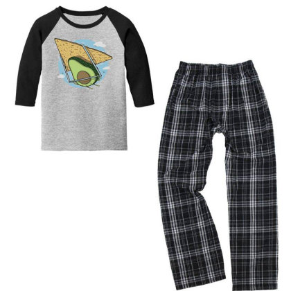 Avocado Delta Youth 3/4 Sleeve Pajama Set Designed By Anis4