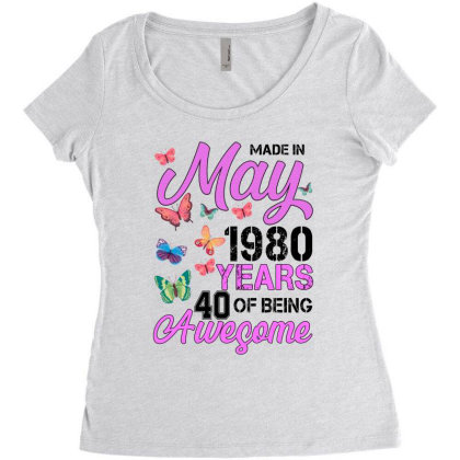 Made In May 1980 Years 40 Of Being Awesome For Light Women's Triblend Scoop T-shirt Designed By Sengul