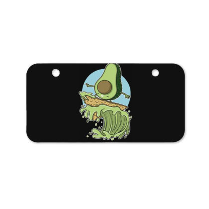 Avocado Surfer Bicycle License Plate Designed By Anis4